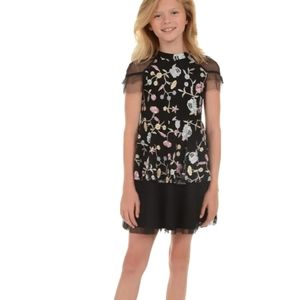 Pippa and Julie Girls Embroidered Dress 12